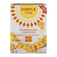 Simple Mills Almond Flour Crackers Farmhouse Cheddar