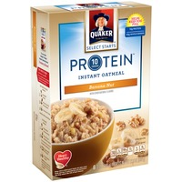 Quaker Oatmeal Select Starts Protein Banana Nut Instant Oatmeal