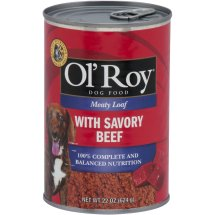 Ol' Roy Meaty Loaf With Savory Beef Wet Dog Food, 22 Oz