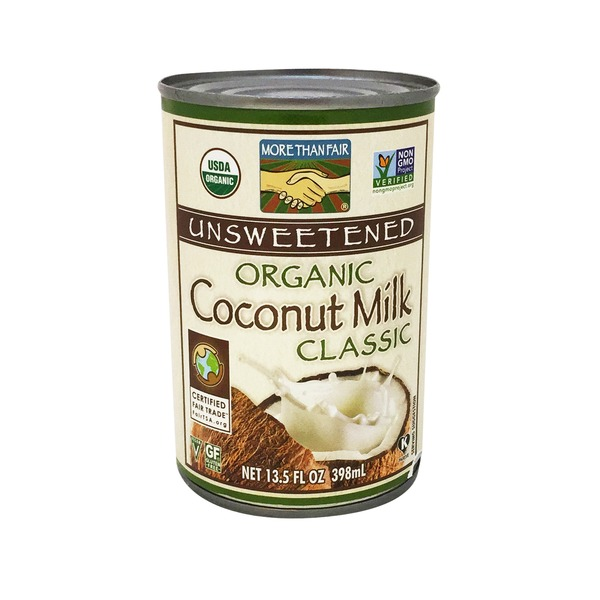 More Than Fair Unsweetened Organic Coconut Milk Classic