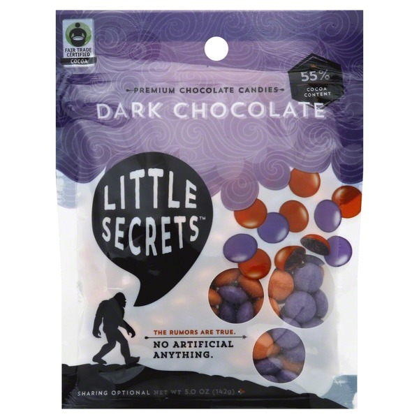 Little Secrets Chocolate Candies, Premium, Dark Chocolate