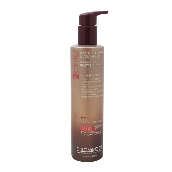 Giovanni 2 Chic Brazilian Keratin & Argan Oil Ultra Sleek Body Lotion