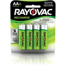 Rayovac Rechargeable NiMH AA Batteries, 8 Count