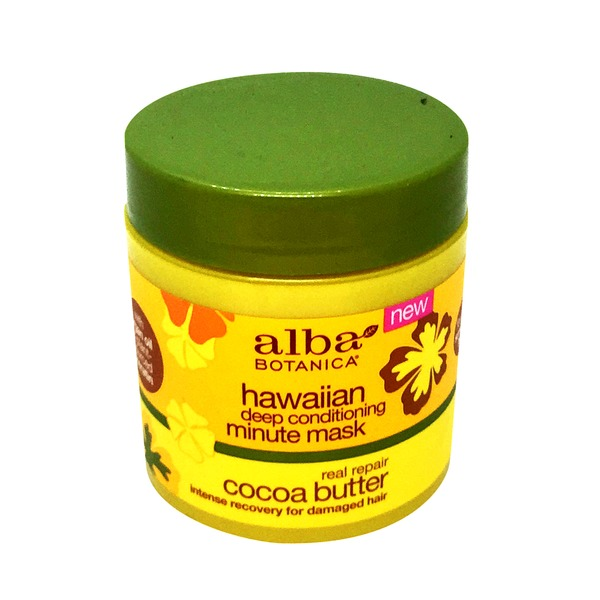 Alba Botanica Hawaiian Cocoa Butter Deep Conditioning Minute Mask