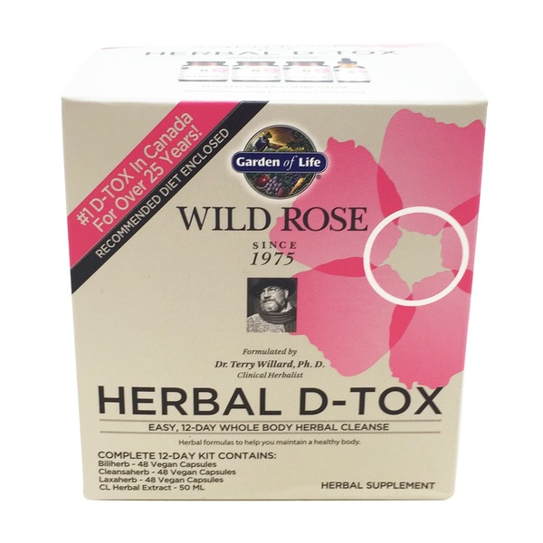 Garden of Life Wild Rose Herbal D-Tox 12 Day Herbal Cleanse Kit
