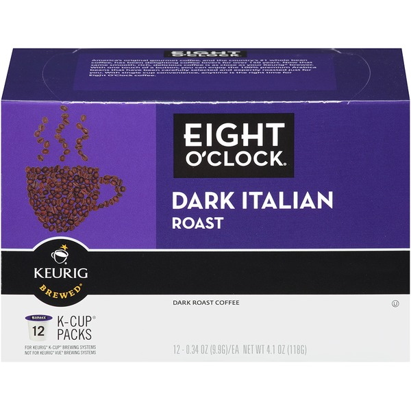 Eight O'Clock Coffee Dark Italian Roast K-Cup Packs Coffee