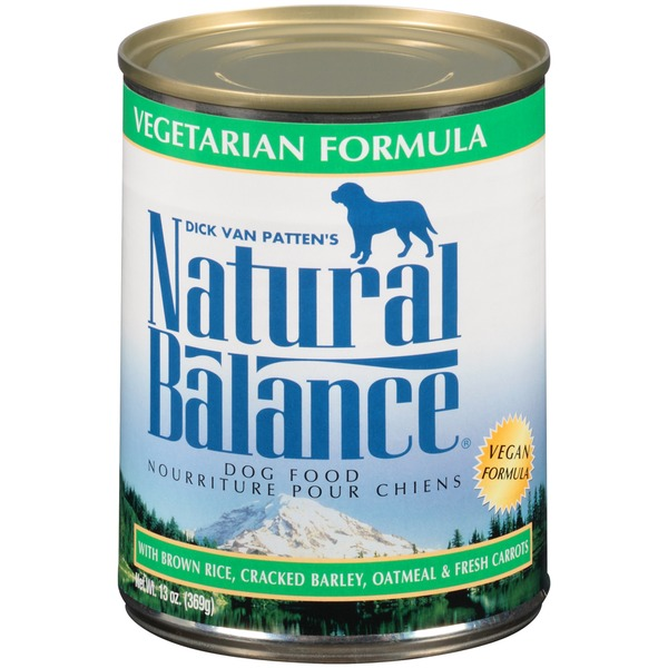 Natural Balance Vegetarian Formula with Brown Rice Cracked Barley Oatmeal & Fresh Carrots Dog Food