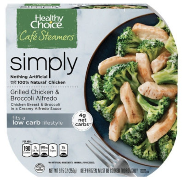 Healthy Choice Grilled Chicken & Broccoli Alfredo Cafe Steamers