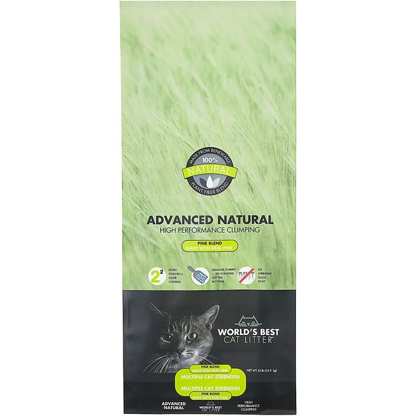World's Best Cat Litter Advanced Natural High Performance Clumping Pine Blend