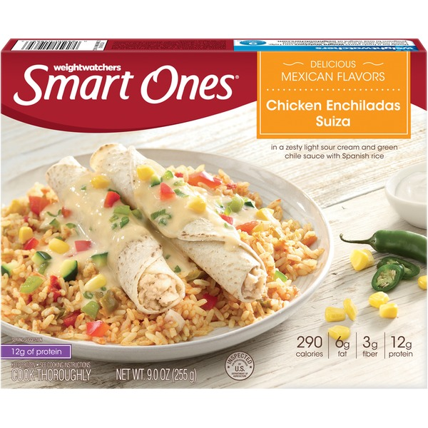 Weight Watchers Smart Ones Delicious Mexican Flavors Chicken Enchiladas Suiza