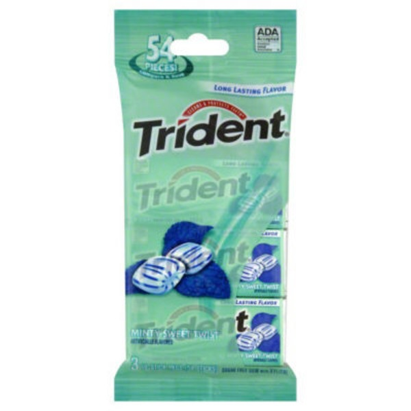 Trident Minty Sweet Twist Sugar Free Gum with Xylitol