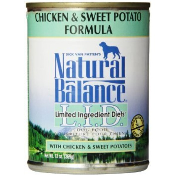 Natural Balance Limited Ingredient Diet Chicken & Sweet Potato Formula Canned Dog Food 13 oz