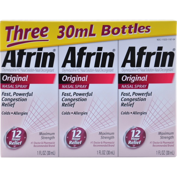Afrin Original Nasal Spray Nasal Decongestant