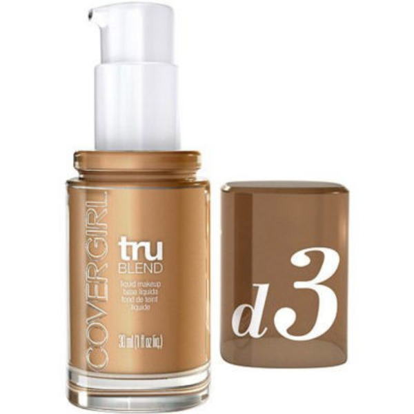 CoverGirl TruBlend COVERGIRL truBlend Liquid Foundation Makeup Honey Beige, 1 fl oz (30 ml) Female Cosmetics