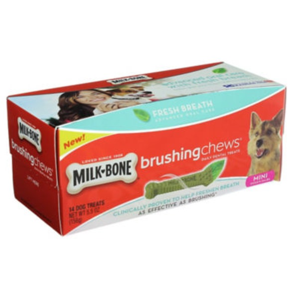Milk-Bone Mini Dog Treats Brushing Chews - 14 CT