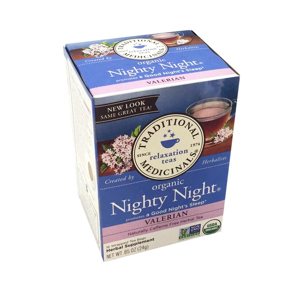 Traditional Medicinals Organic Nighty Night Caffeine Free Tea Bags - 16 CT