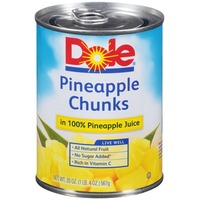 Dole Canned Fruit Chunks In 100% Pineapple Juice Pineapple