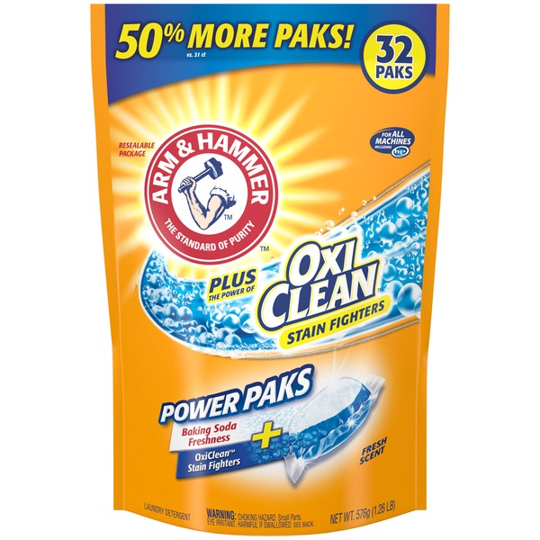 Arm & Hammer Plus OxiClean Stain Fighters Fresh Scent Power Paks Laundry Detergent