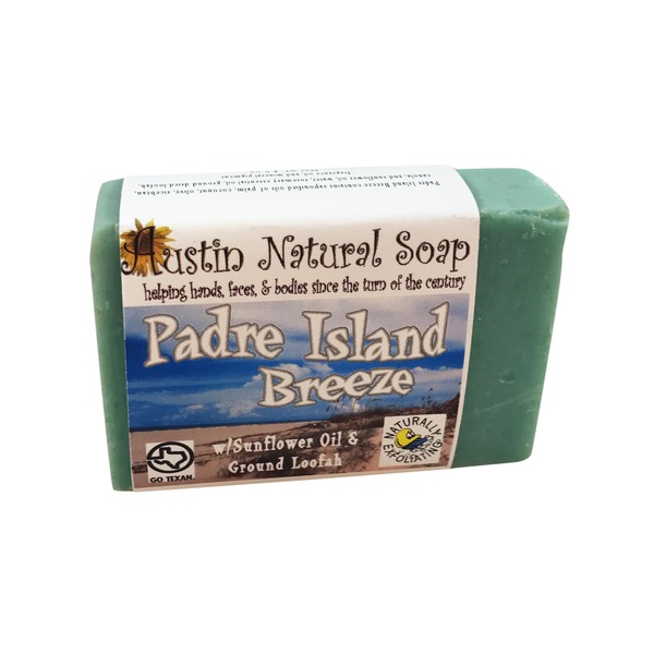 Austin Natural Soap Padre Island Breeze With Sunflower Oil & Ground Loofah