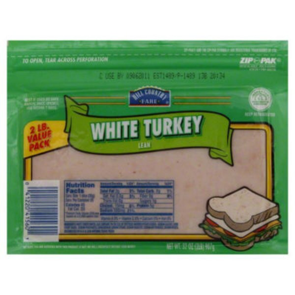 Hill Country Fare Value Pack Lean White Turkey Zip Pack