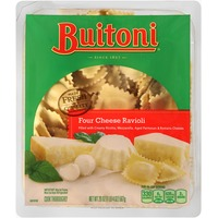 Buitoni Freshly Made. Filled with Creamy Ricotta, Mozzarella, aged Parmesan and Romano Cheeses Four Cheese Ravioli