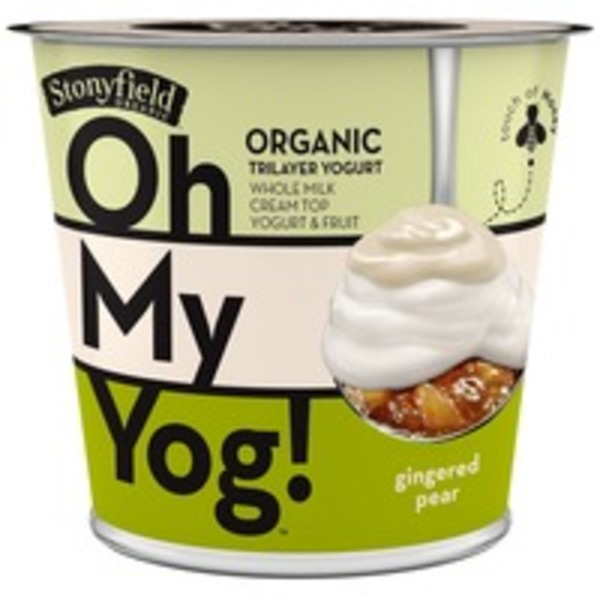 Stonyfield Organic Oh My Yog! Trilayer Whole Milk Gingered Pear Organic Yogurt
