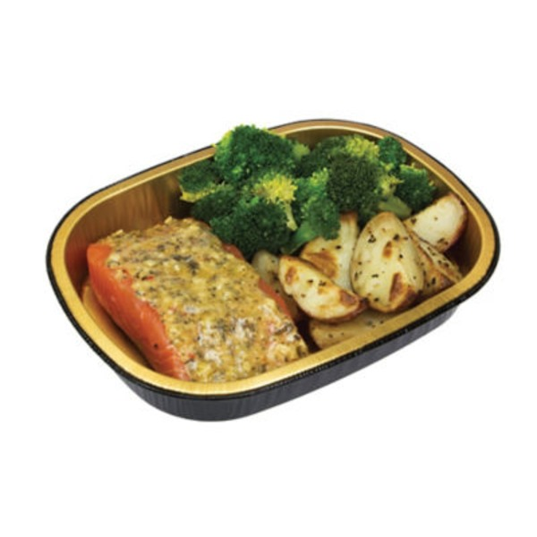 H-E-B Simply Cook Garlic Pesto Salmon With Broccoli & Roasted Red Potatoes