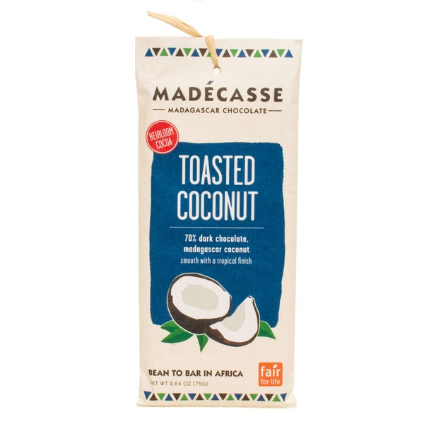 Madecasse 70% Dark Chocolate With Toasted Coconut Bar