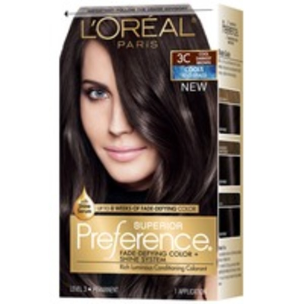 Superior Preference Cools 3C Cool Darkest Brown Hair Color
