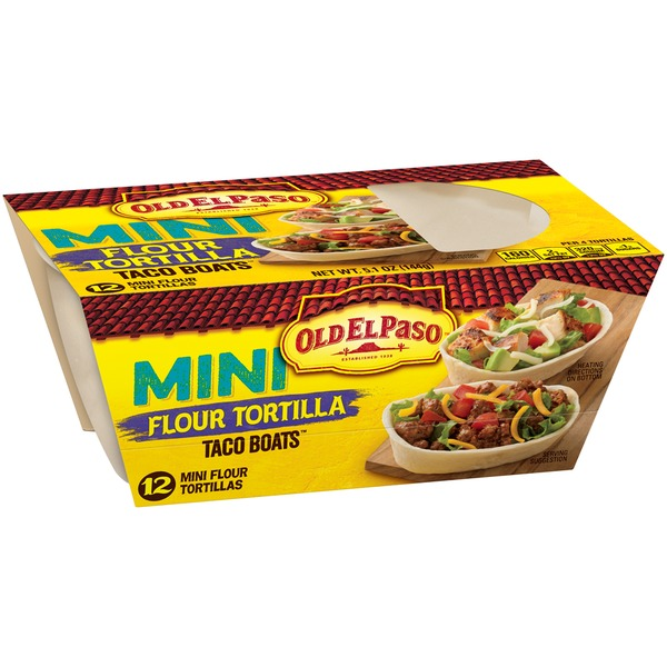 Old El Paso Mini Soft Taco Boats Flour Tortillas