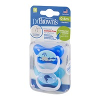 Dr Brown's PreVent Orthodontic Pacifier 0-6M - 2 CT