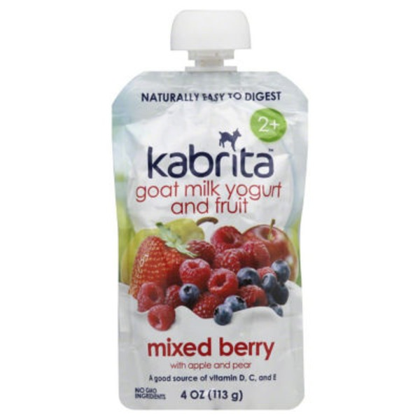 Kabrita Mixed Berry Goat Milk Yogurt and Fruit