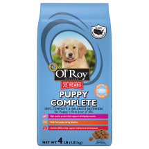 Ol' Roy Puppy Complete Dry Dog Food, 4 lb