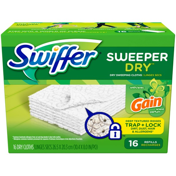 Swiffer Sweeper Dry with Gain Scent Dry Sweeping Cloths