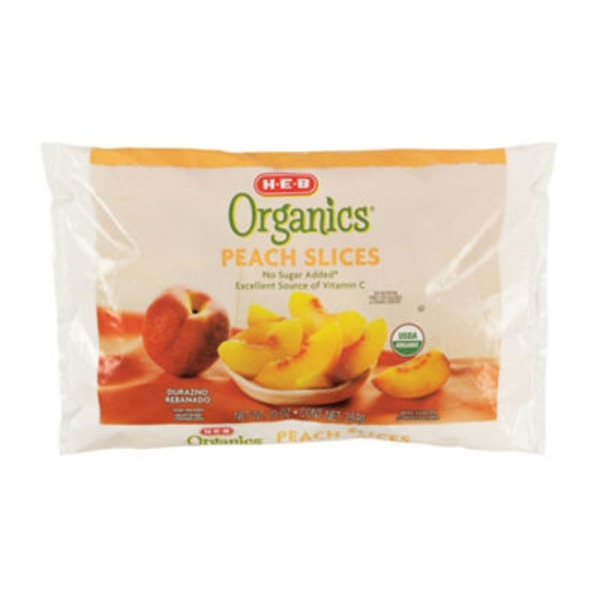 H-E-B Organics. Frozen Peach Slices