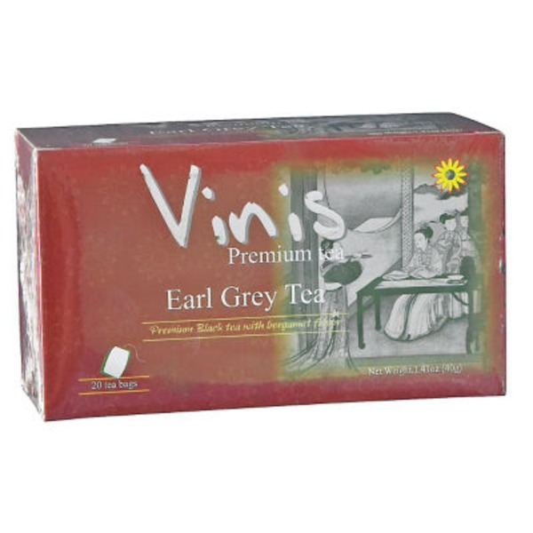 Vinis Earl Grey Black Tea Bags
