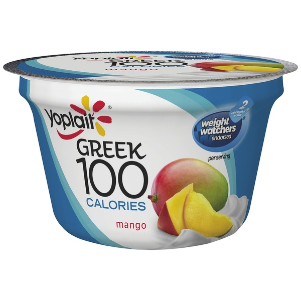 Yoplait Greek 100 Calories Mango Fat Free Yogurt