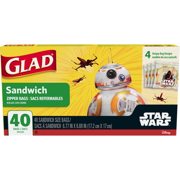 Glad Star Wars Sandwich Size Zipper Bags