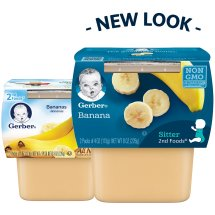 Gerber 2nd Foods Bananas, 4 oz, 2 count