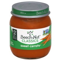 Beech-Nut Classics Sweet Carrots Stage 2, about 6 Months Baby Food, 4 oz