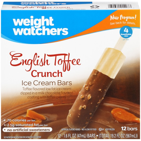 Weight Watchers English Toffee Crunch Ice Cream Bars