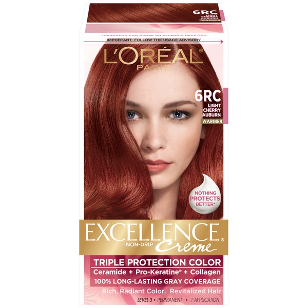 Excellence Creme 6RC Warmer Light Cherry Auburn Hair Color