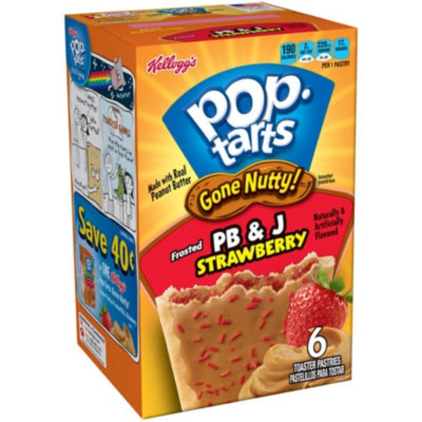 Kellogg's Gone Nutty! Frosted PB & J Strawberry Toaster Pastries