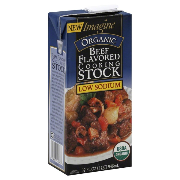 Imagine Foods Cooking Stock, Beef Flavored, Organic, Low Sodium