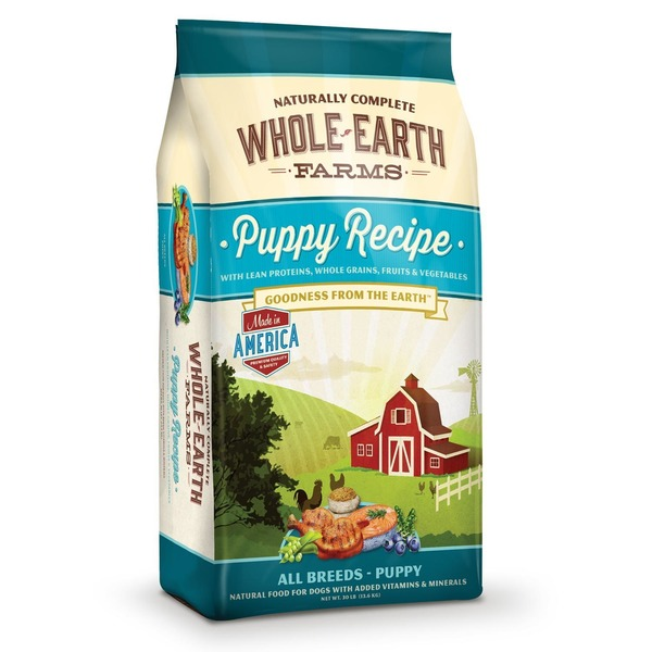 Whole Earth Farms Puppy Recipe Natural Food For Dogs