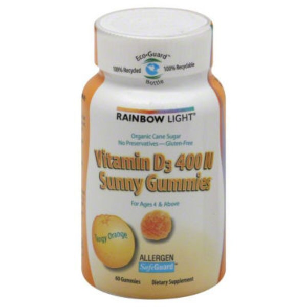 Rainbow Light Vitamin D3 400 IU Sunny Gummies Tangy Orange - 60 CT