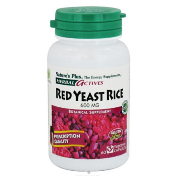 Nature's Plus Herbal Actives Red Yeast Rice 600 Mg Vegetarian Capsules