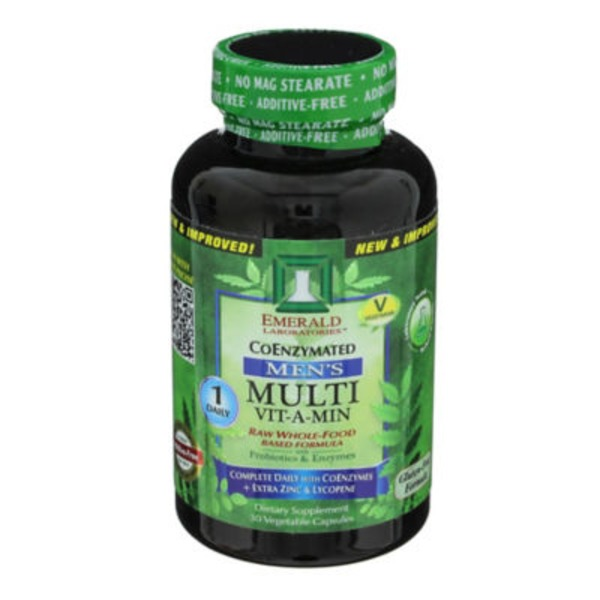 Emerald Laboratories Men's Multi Vit-A-Min Coenzymated One-A-Day Complete Capsules