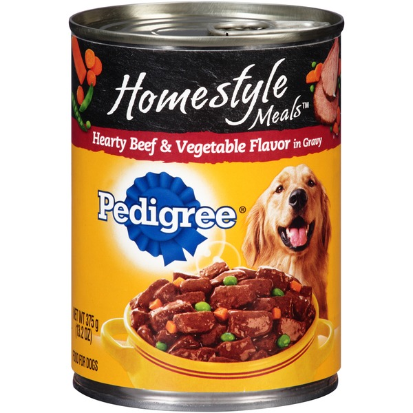 Pedigree Homestyle Meals Hearty Beef & Vegetable Flavor in Gravy Dog Food