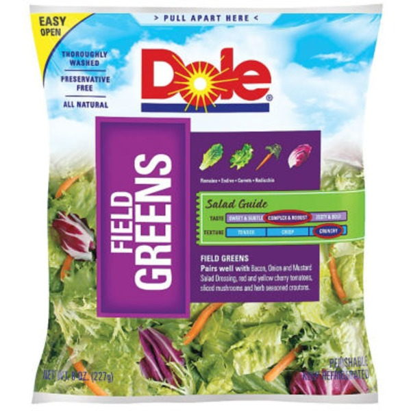 Dole Field Greens Salad Bag